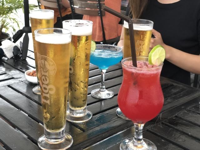 カンボジアクルーズで出た飲み物